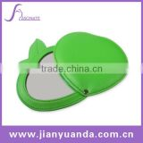 Fashion leather cosmetic mirror with apple shape