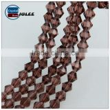 Factory Price Glass Material Bead Necklace Design Bicone Bead faceted glass beads for chandelier
