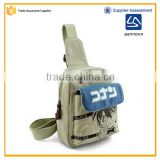 alibaba China bulk Japanese anime canvas school bag new models for boy                                                                                                         Supplier's Choice