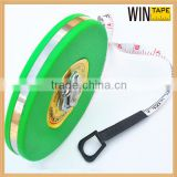 Long Distance Green ABS Case Fiberglass Tape Round Retractable 10 Meter Tape Measure With Hand Crank