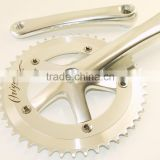 silver single speed crankset alloy chainwheel single speed bike chain wheel cranks