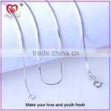 Modern chain necklace 925 Sterling Silver Simple style Thin beautiful Chain All-match with Pendant