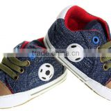Manufacturers direct sales blue football pattern baby shoes soft bottom anti slip shoes baby shoes #mo115