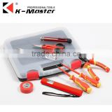 K-Mastet 8 pcs diy high quality household tool set blow case with transparent cover plastic hand tool set