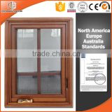 Hot style foldable crank handle aluminum wooden casement window frames designs