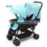 2016 new european style fasion twin tandem baby stroller