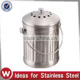 1.0 Gal Charcoal Filter Included stainless steel compost bin