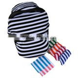 2016 Featured Products Security Classic Black White Stripe Design Car Seat Cover for Baby