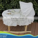 hand made cradle baby moses basket / moses basket set /maize basket/ bassinet,/ corn basket /with rocking stand BB004