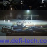 holographic transparent adhesive 3d rear projection screen foil advertising screen