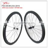 New 38mm carbon clincher wheelset with DT350 hub, 700C road racing bicycle wheelset 38mm x 23mm with 4 degree braking track