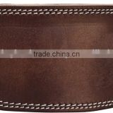 "hot sale weight lifting Brown leather belt/High Quality Custom Logo Leather 6"" Weight Lifting Belt"