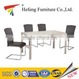 modern heavy-duty marble dining table with stainless steel dining table base