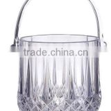 Contemporary promotional Clear Arcylic plastic ice buckets with Tong                                                                         Quality Choice