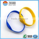 waterproof silicone bracelets rfid custom rfid wristbands for swimming pool or festival event