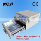 reflow oven t962a,automatic desktop smt reflow oven,pcb oven,wave soldering machine,taian puhui manufacturer