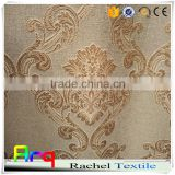 linen look polyester cotton blend jacquard curtain fabrics- natural color style- european/ egyption curtain