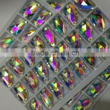13x22mm crystal AB teardrop shaped glass beads with hole for stitching to clothing                                                                         Quality Choice