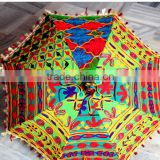Handheld Sun Umbrella Parasol Boho Bohemian Parasol Traditional Indian Embroidered small umbrella