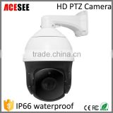 CCTV 1080p 2mp hd optical zoom ir outdoor high speed dome auto tracking p2p hd ptz ip camera