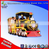 Hot selling !!! LG outdoor kids ride on toy train amusement park track train for sale