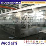 Automatic bottled milk/juice/yogurt filling machine with aluminium film sealing/HDPE bottles filling line