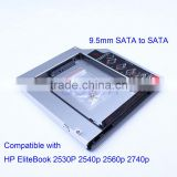"9.5mm 2.5"" 2nd hdd hard drive disk caddy for HP 2530P 2540P"