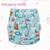 Eco-friendly Naughty baby brand cartoon Baby pocket Cloth Diapers, nappy manufacturer