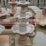 sandstone tiered outdoor waterfall fountains