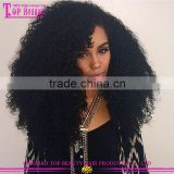 Great Reputation Natural Colour 180% Density Brazilian Thick Human Hair Side Part Lace Front Wig