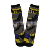 GSC-74 Haining GS custom cute cartoon bat man design dark gray young boys children kid sock