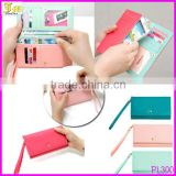 Pu Leather Smart Phone Wallet Mobile Card Holder Case Coin Bag Pouch Purse For S3 5/4/4s With Pvc Box Packing