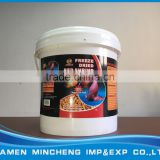 High nutrition fish feed freeze dried red shrimp bucket package