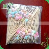 2016 hot sale high quality bamboo fruit picks for food