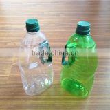 1000ml bulk clear/green pet cooking olive oil vinegar bottle with flip top lid wholesale