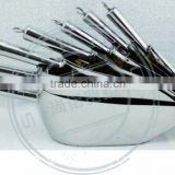 plat bottom stainless steel ice scoop for bar