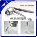 Perfume bottle sprayer pump atomiizer crimper hand manual/semi-automatic sealing crimping machine(available size13mm/15mm/20mm )