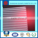 Free sample 10-years warranty polycarbonate plastic wall covering plate/clear plastic cover plate/thin clear plastic plate