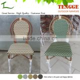 Wedding party chair outdoor stackable wicker bamboo look chair