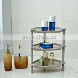 N504 3 Tiers Homeware Diaplay Plastic Storage Holder Bathroom Corner Rack Household Accessories