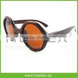 2015 Newest Bamboo Sunglasses W Round Polarized Lens/HOMEX