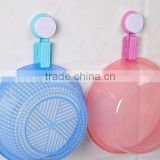 Vacuum suction cup kitchen and bathroom plastic basin hook/shelf/holder