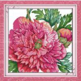 Peony chinese flower cross stitch pattern kits cotton dmc threads for online wholesale