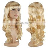 Womens ladies girls blonde party use cosplay wig with pretty design FW2102