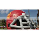 pvc cheap inflatable football helmet tunnel with custom