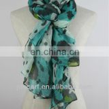 printed cotton voile square scarf JDY-140# printed promotion fleece scarf