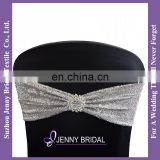 SH050G bow tie size ribbon sequin bow for chair sequin chair band