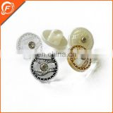 fancy plating abs with stone button for garment