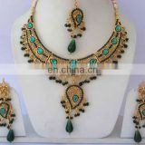 INDIAN BRIDAL GOLD INSPIRED DESIGNER KUNDAN JEWELRY
