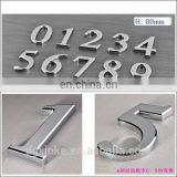 High quality stainless steel casting mirror finish door numbers